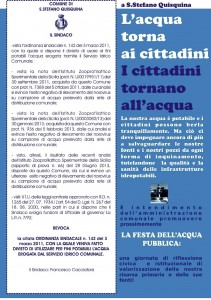 Manifesto Acqua potabile
