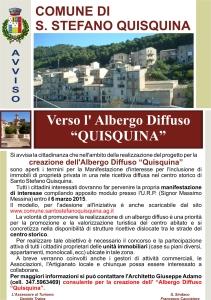 """Verso l'Albergo Diffuso """"Quisquina"""""""