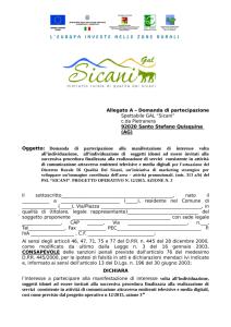 GAL Sicani – Manifestazione di interesse a partecipare a procedura di affidamento