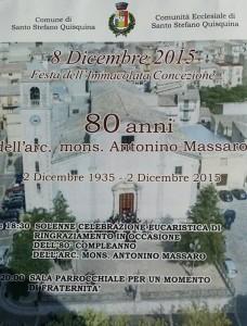 Festeggiamenti per l'80° compleanno dell'Arc. Mons. Antonino Massaro