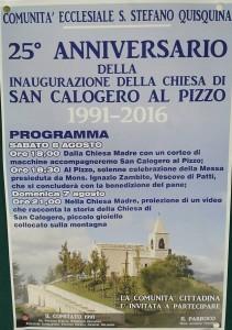 25° anniversario inaugurazione chiesetta di San Calogero