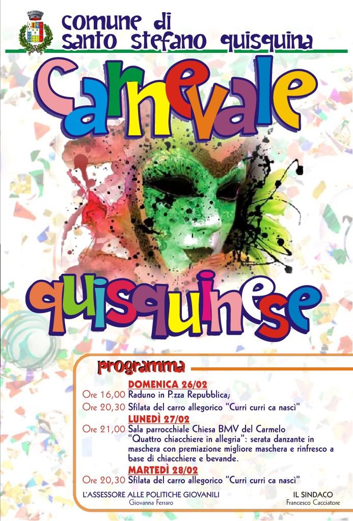 Carnevale Quisquinese 2017 – il programma