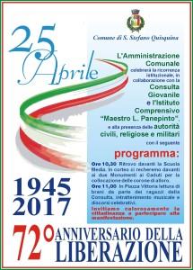 25 aprile 1945 – 25 aprile 2017