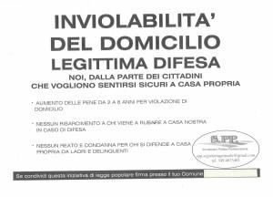 Inviolabilità del domicilio e legittima difesa