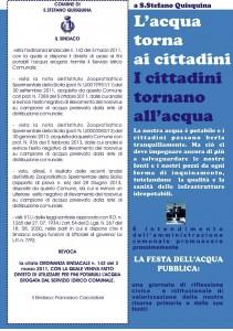 Manifesto Acqua potabile