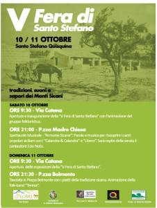 V^ Fiera Santo Stefano - Programma